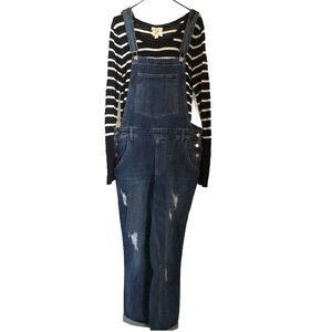 Just Jeans Distressed Bib Denim Overalls Sz 12